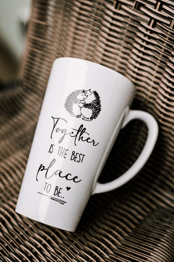 Together is the Best place. ENG_1 (latte) Original mug with print