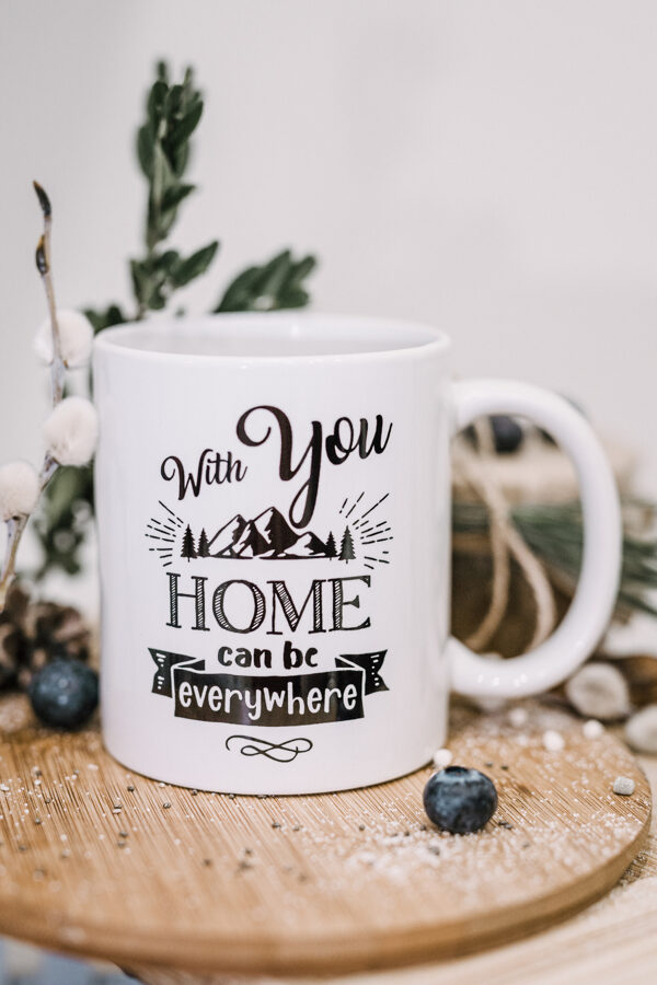 Home can be everywhere. ENG_6 (classic) Original mug with print